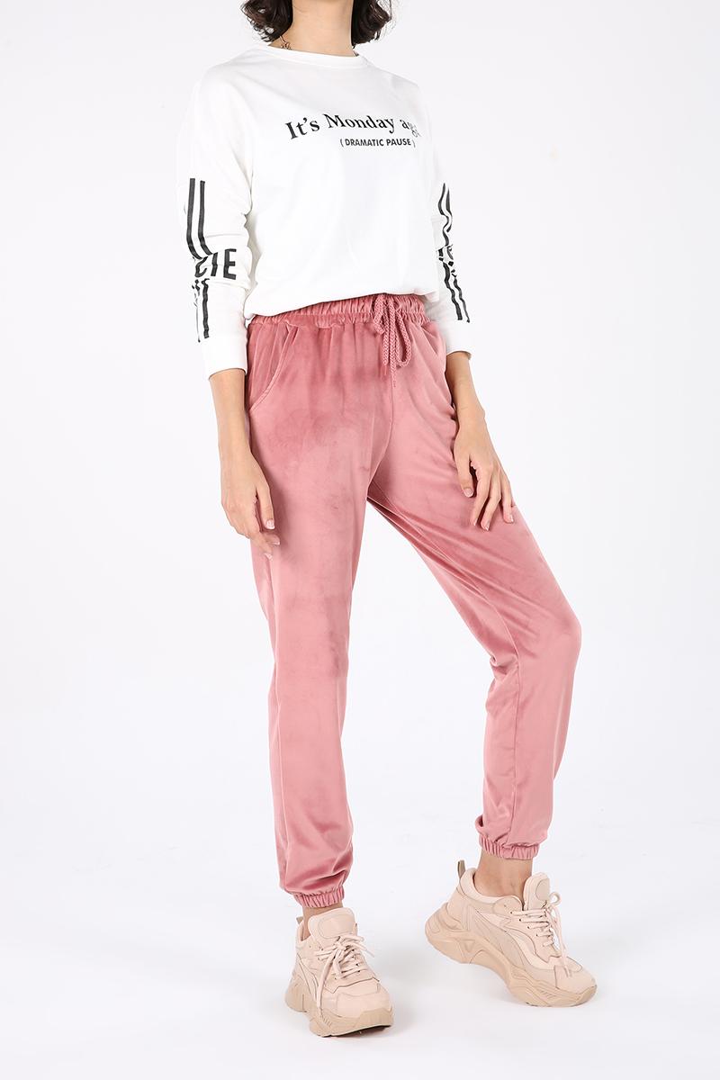 Pocket Velvet Sweatpants