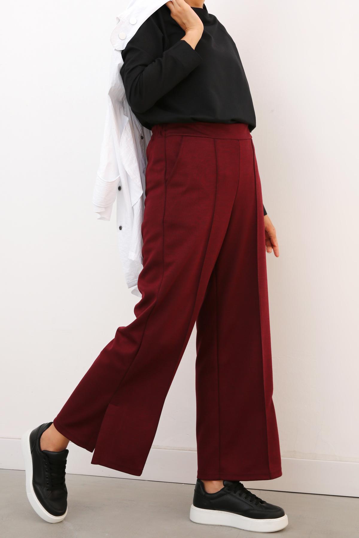 Slit Hem Lace Detailed Pants