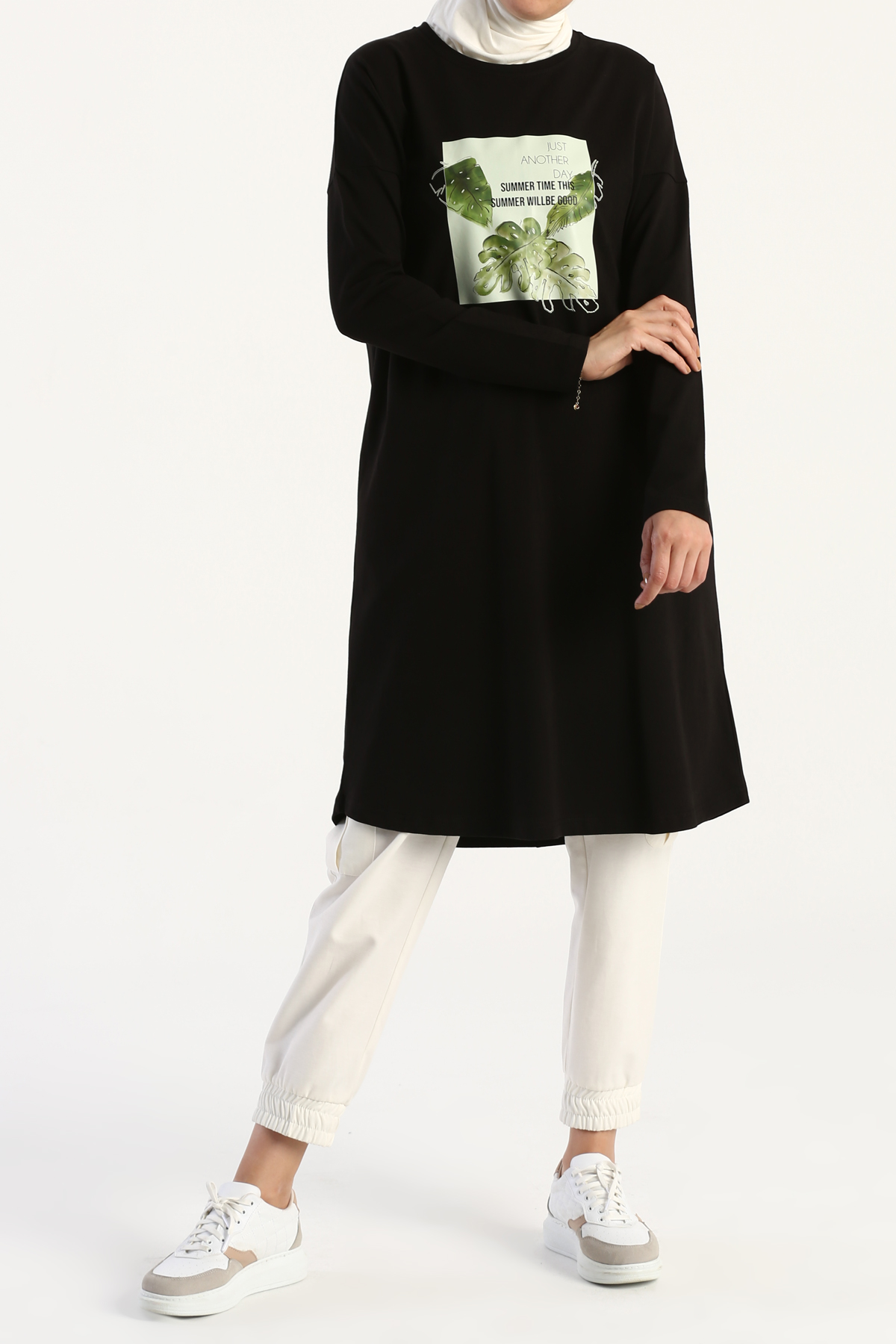 Palm Printed Long Sleeve T-shirt