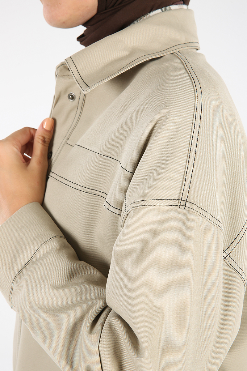 Pamuklu Cepli Ceket