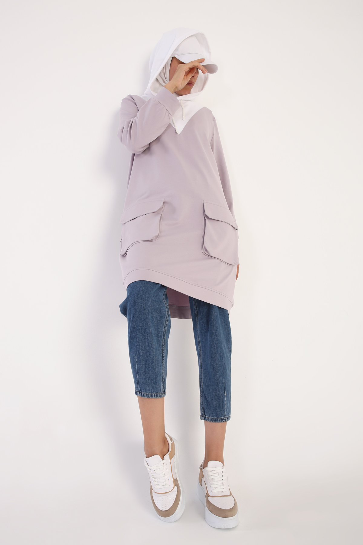 Cotton Sweat Tunic With Pocket