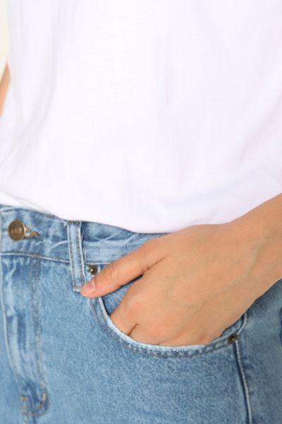 Denim Cepli Mom Pantolon
