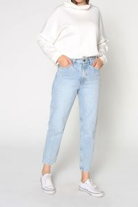 Buttoned Hijab Denim Mom Pants