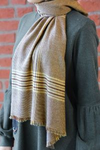 COTTON PLAID WINTER SHAWL
