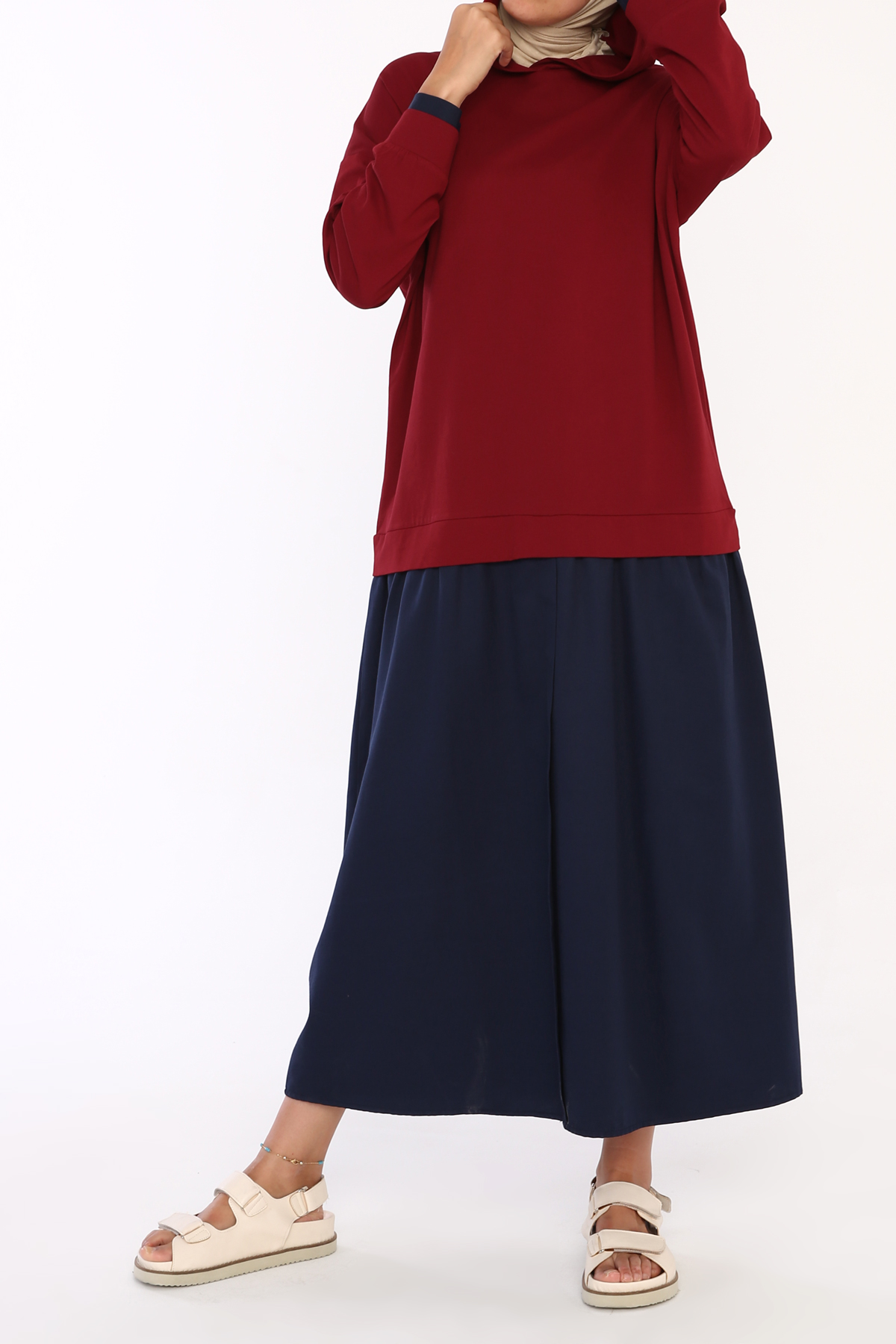 Cotton Hooded Long Dress