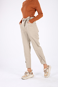 Belted Pocket Zippered Hijab Pants