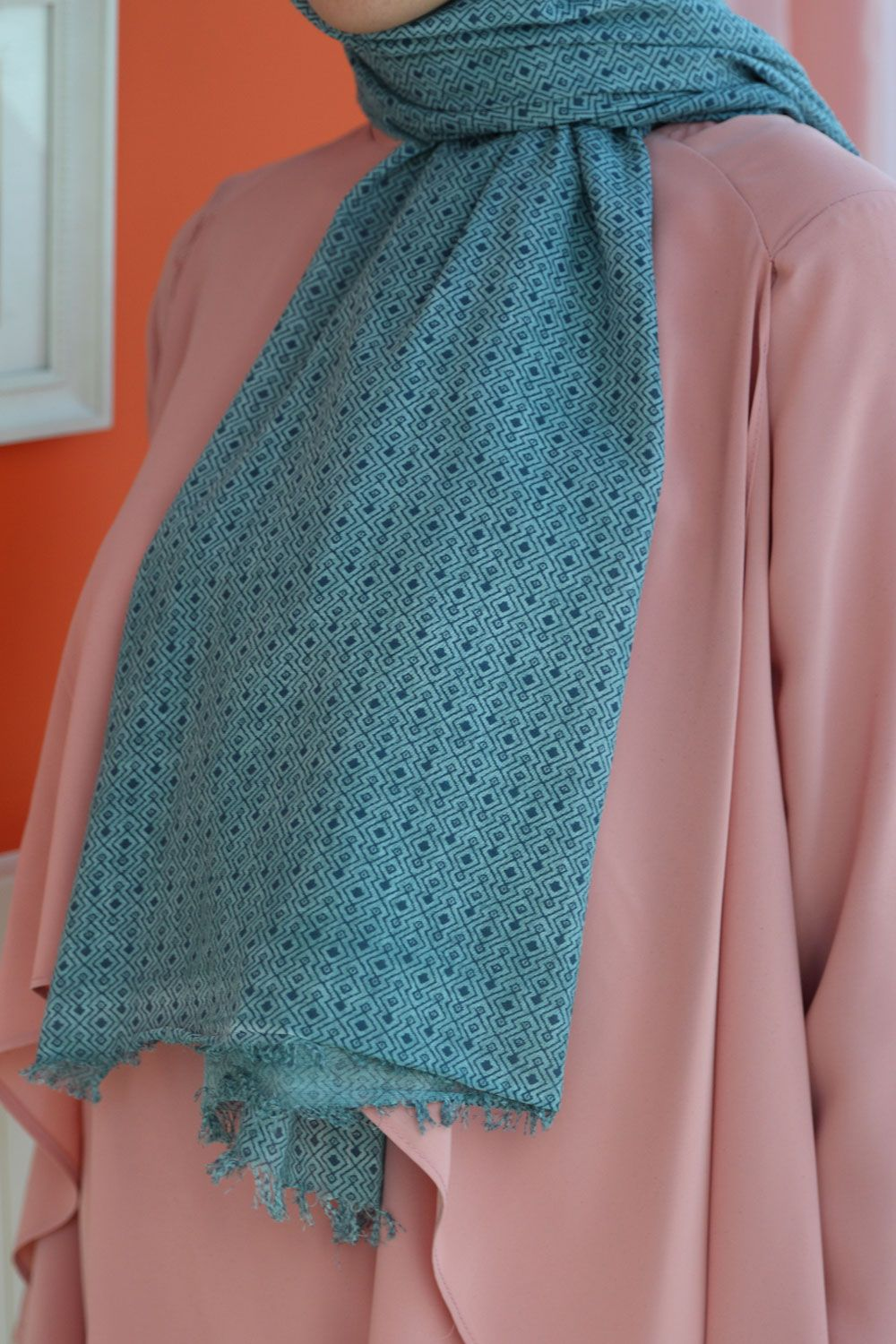COMBED COTTON SHAWL