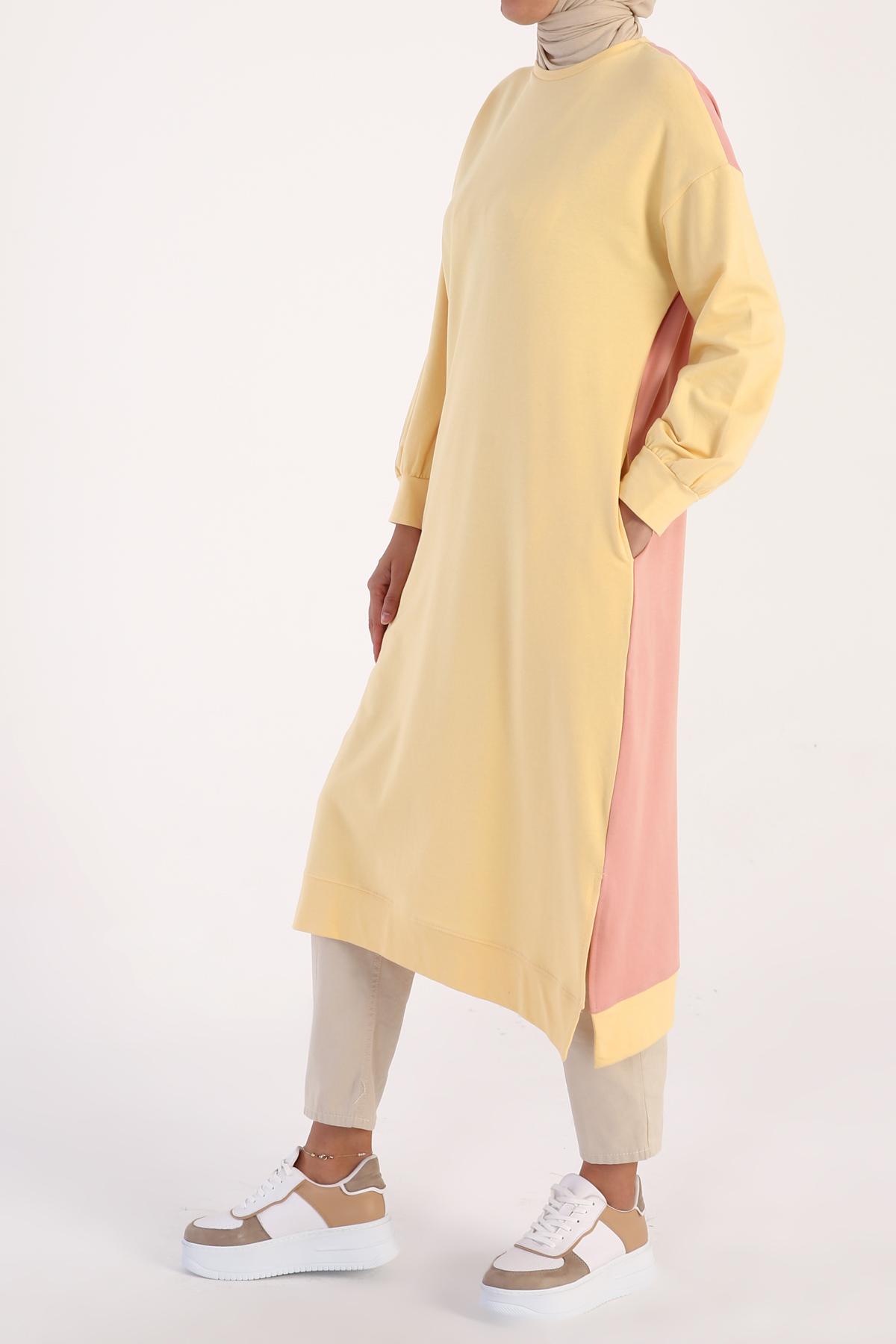 Cotton Long Sweatshirt Tunic