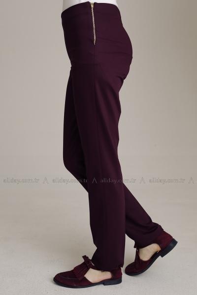Yandan Fermuarlı Pantolon