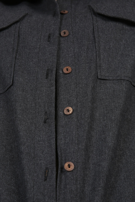 Düğmeli Patlı Cepli Gömlek