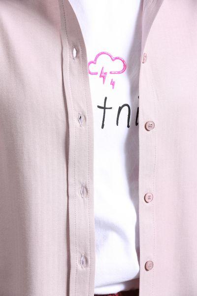 Patlı Düğmeli Gömlek
