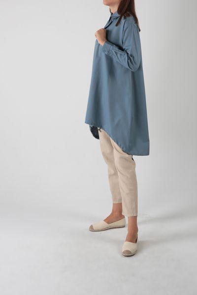 Eteği Lastikli Salaş Gömlek Tunik