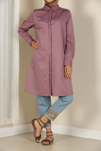 PLEATED COLLARED TUNIC