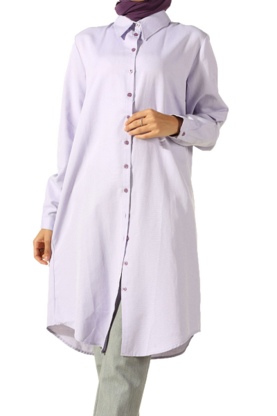 PLACKET TUNIC WITH COLLAR