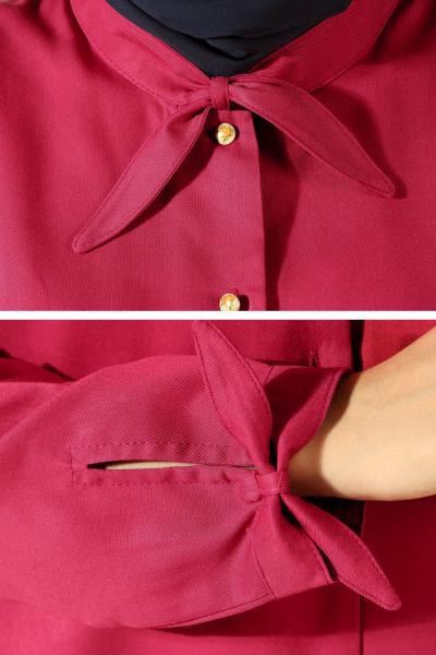 Patlı Yaka Detay Gömlek Tunik