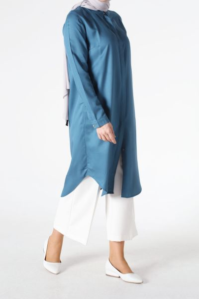 PATLIED CALDED TUNIC