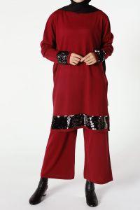 Pul Payetli Pantolonlu İkili Takım