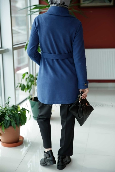 Kuşaklı Penye Ceket