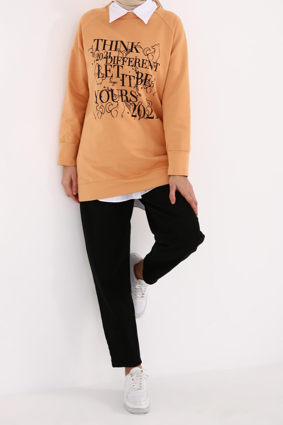 Combed Cotton Raglan Sleeve Sweatshirt