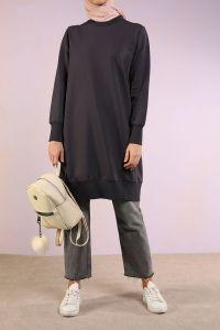 Combed Cotton Sweatshirt Tunic