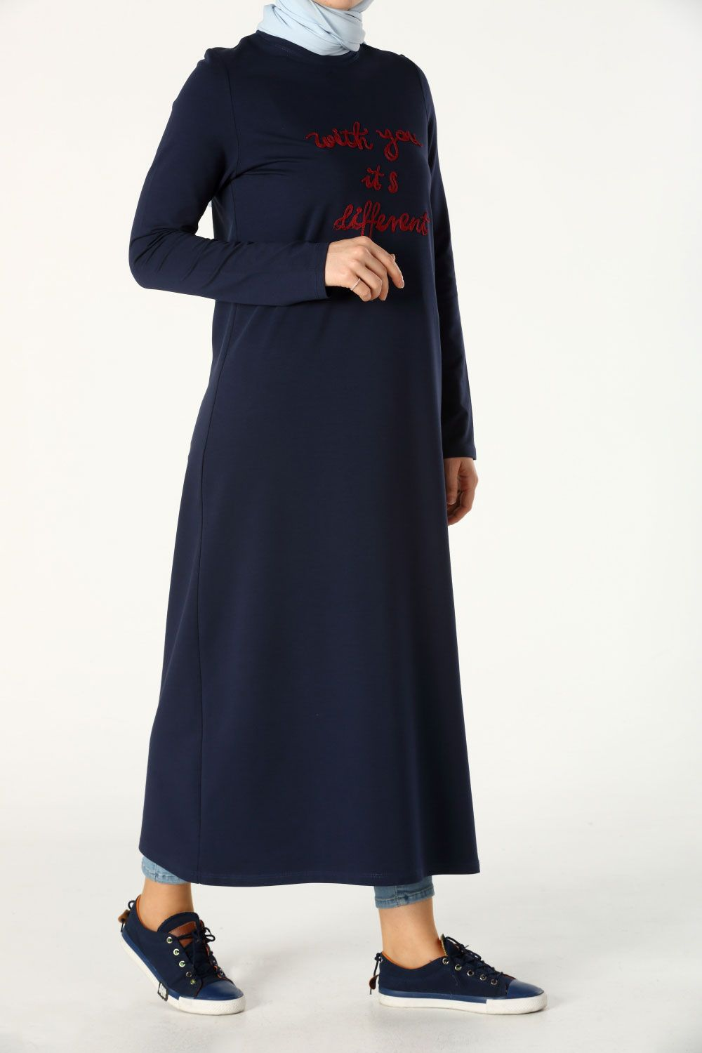 3ff17887ff Clothing. - · Navy Blue Combed Tunıc · COMBED TUNIC