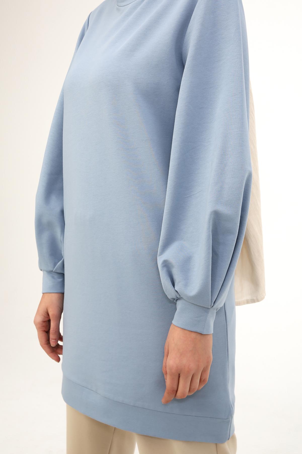 Balloon Sleeve Basic Sweatshirt