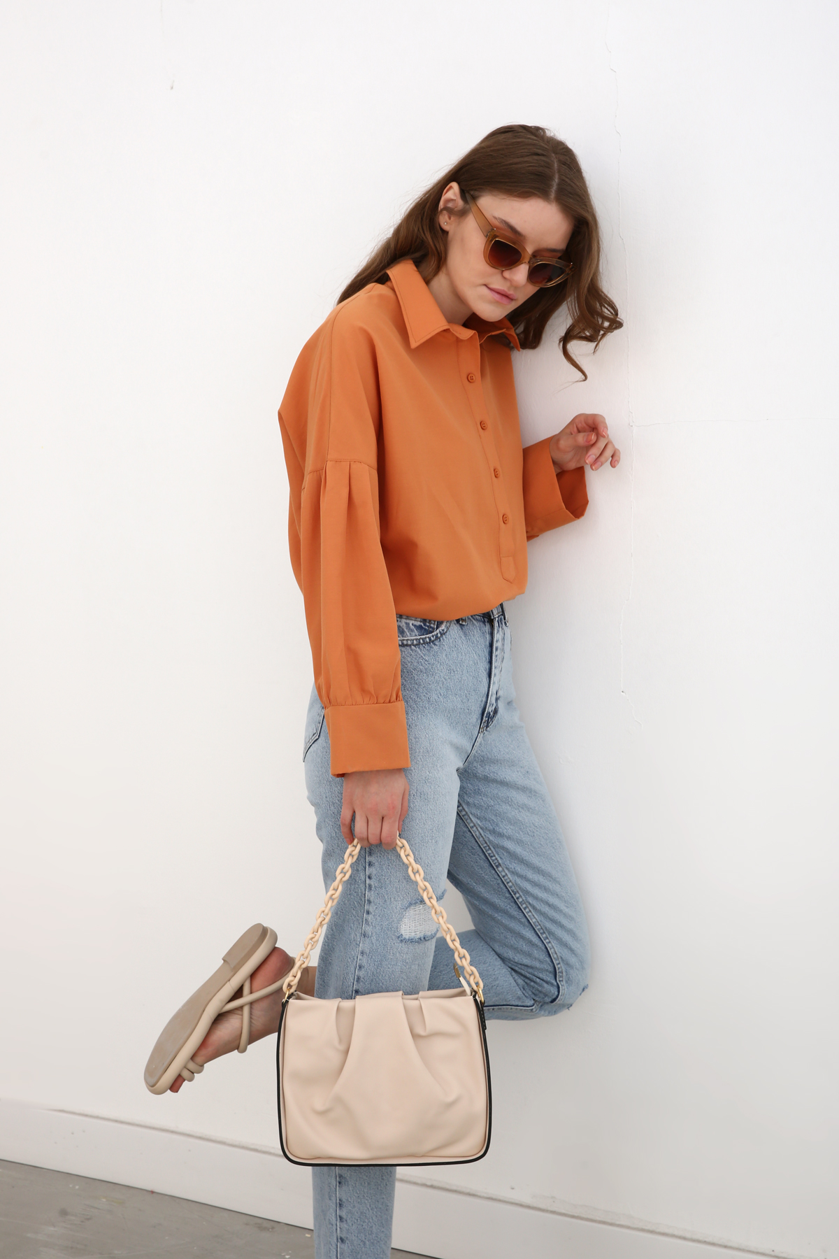 Pleated Hand And Shoulder Bag