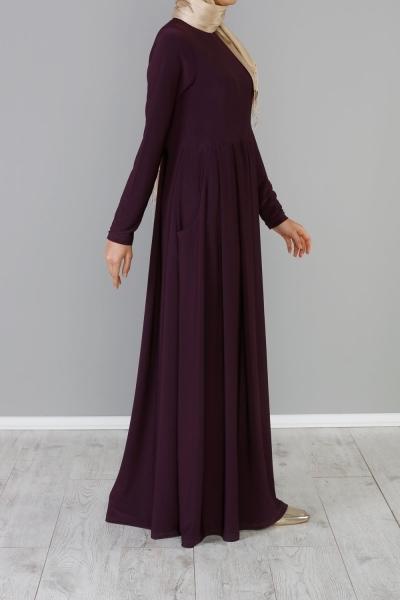 Pileli Cepli Elbise