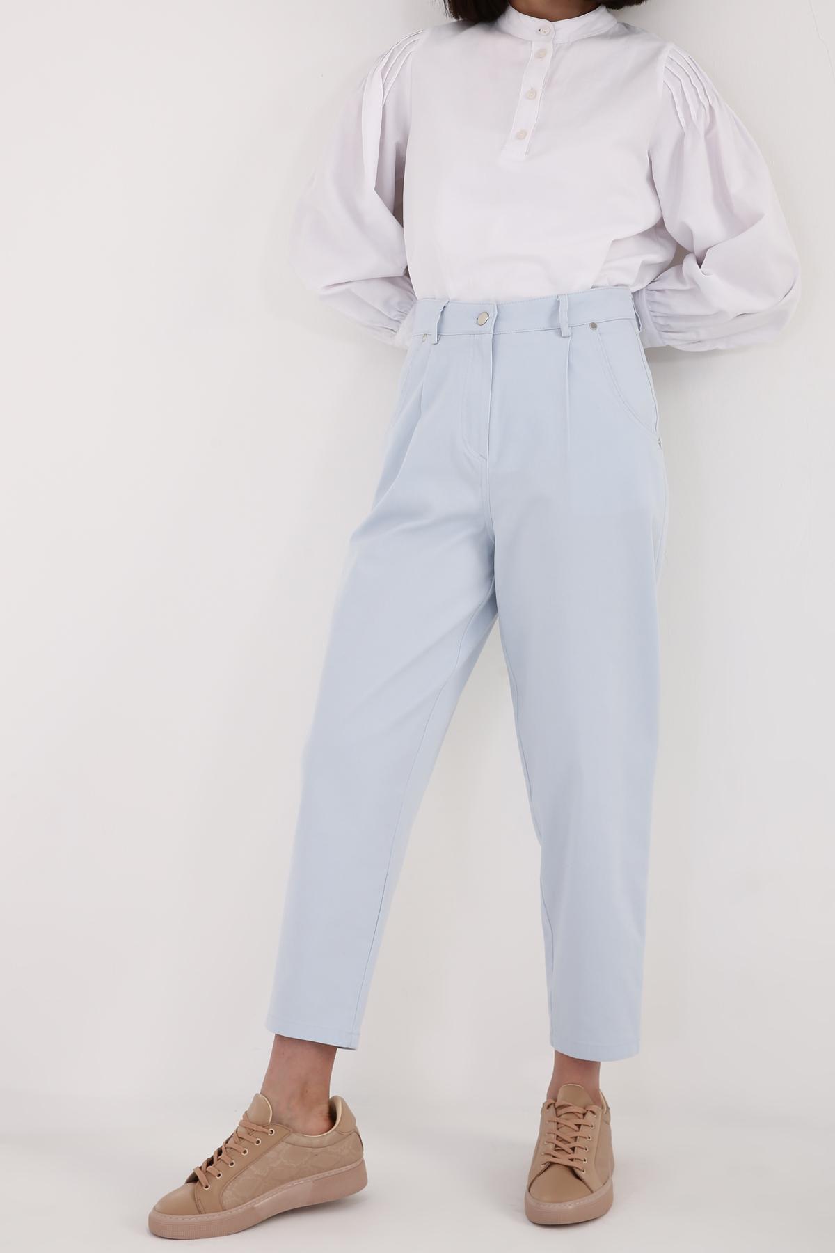 High Waist Pleated Mom Jeans
