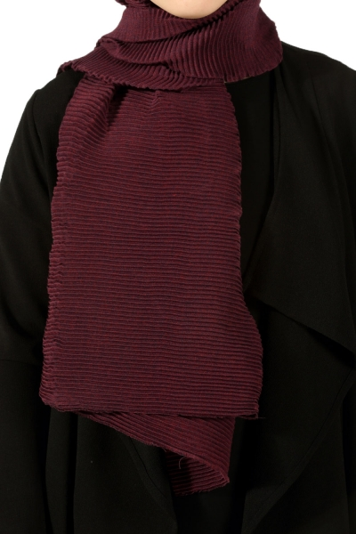 PLEATED COTTON SHAWL