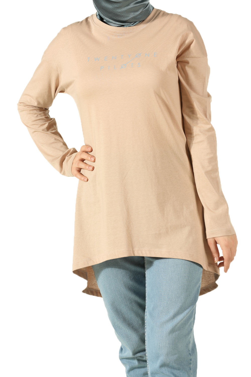 PILOTS PRINTED COMBED COTTON TUNIC
