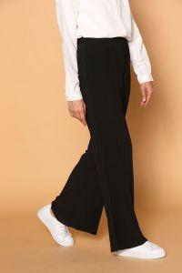Pliseli Beli Lastikli Pantolon