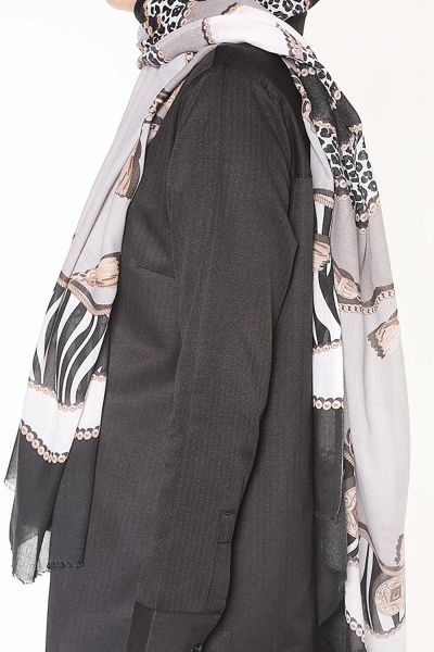 POLO PATTERNED COTTON SHAWL