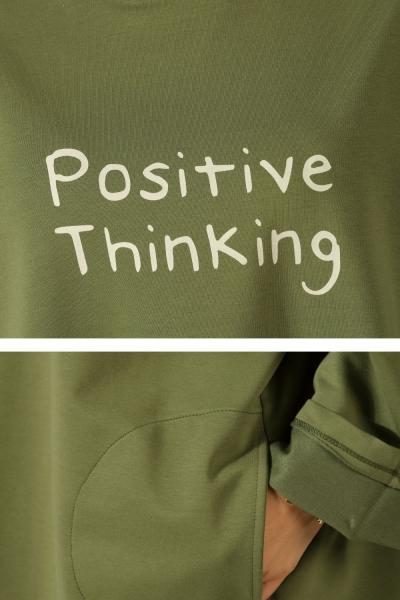 Positive Thinking Baskılı Tunik