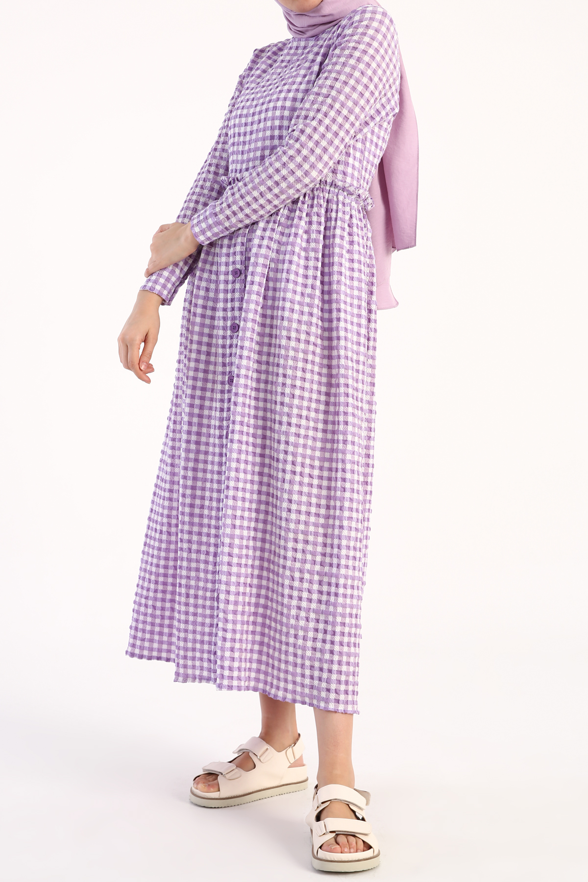 Gingham Patterned Dress
