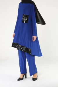 Sequin Detail Hijab Suit