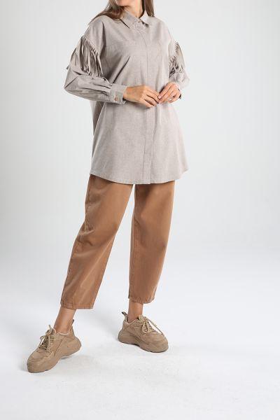 Tassel Detailed Shirt Tunic