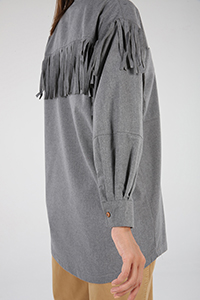 Tassel Detailed Shirt Tunic