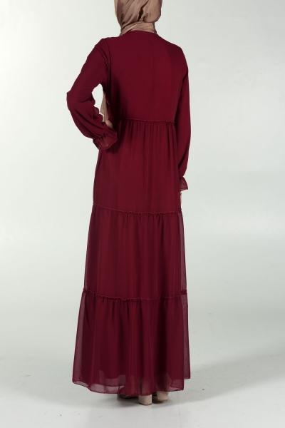 Püsküllü Astarlı Elbise