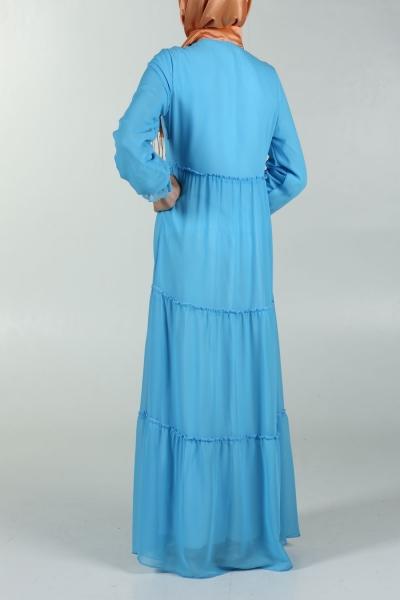 SPRAYED SPRING PLASTIC DRESS