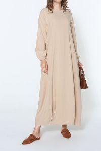 COMFORTABLE MOLD LINEN DRESS
