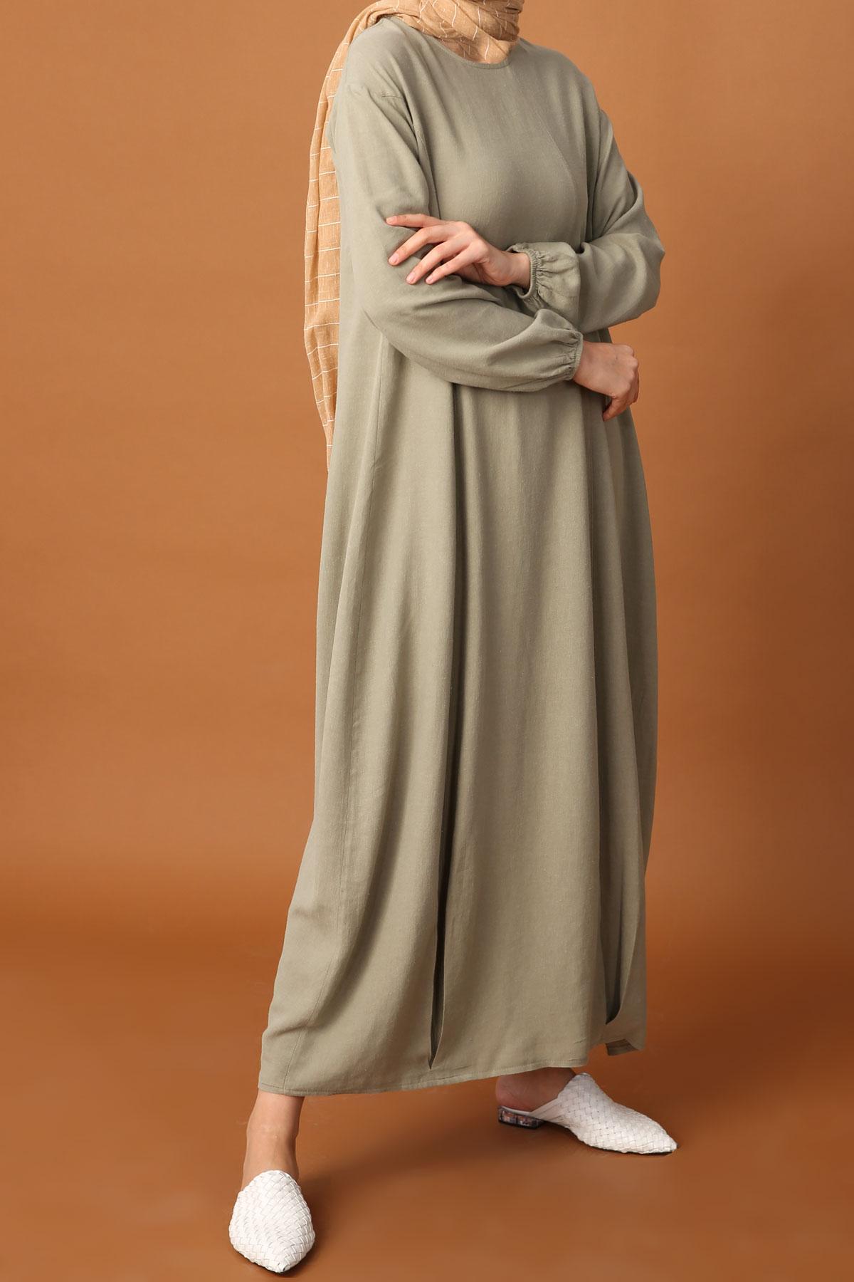 COMFORTABLE MOLD LINEN DRESS