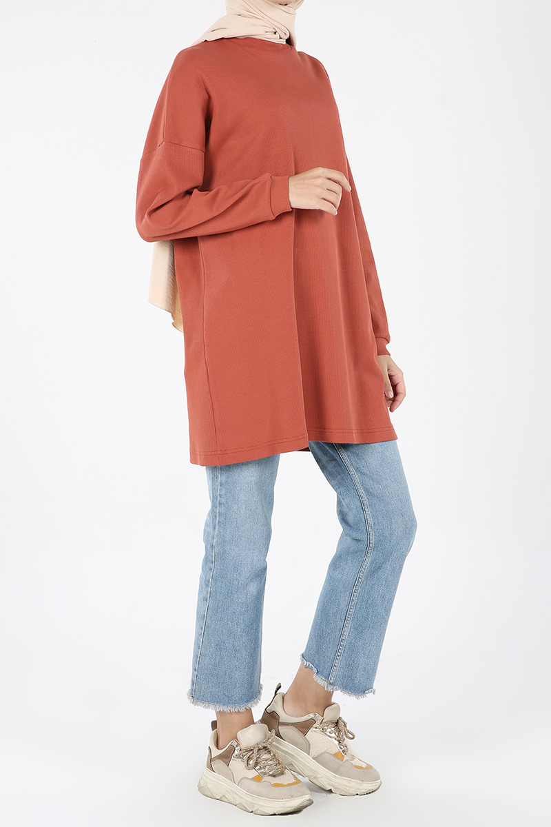 Comfortable Mold Sweatshirt Tunic