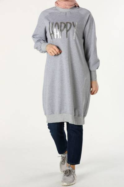 RAGLAN SLEEVE PRINTED TUNIC