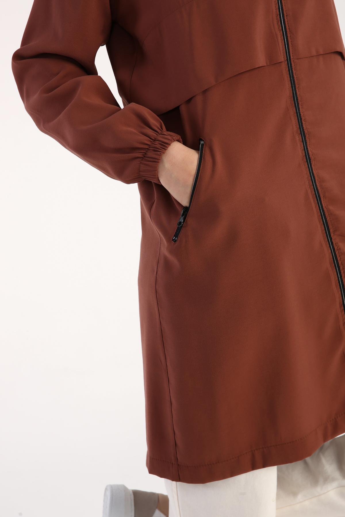 Raglan Sleeve Hooded Cape