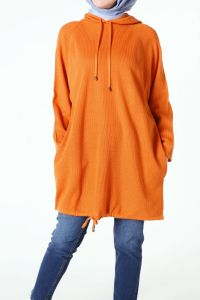 RAGLAN SLEEVE HOODED TUNIC