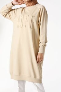 Raglan Sleeve Embroidered Combed Cotton Tunic
