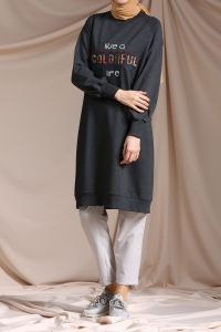 RAGLAN SLEEVE EMBROIDERED TUNIC