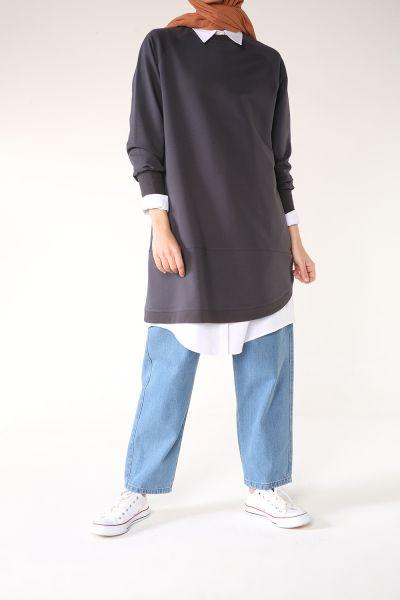 Raglan Sleeve Combed Cotton Tunic