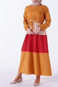 Renk Kombinli Elbise